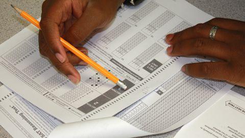 Students at Clayton State University 'take' SAT exams.