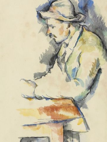 """A study for Paul Cezanne's master work """"The Card Players,"""" missing for decades, has been rediscovered among the paintings of a Texas art collector, and will be sold at auction later this year."""