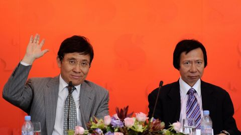 Raymond, left, and Thomas Kwok at a press conference on May 23, 2008.