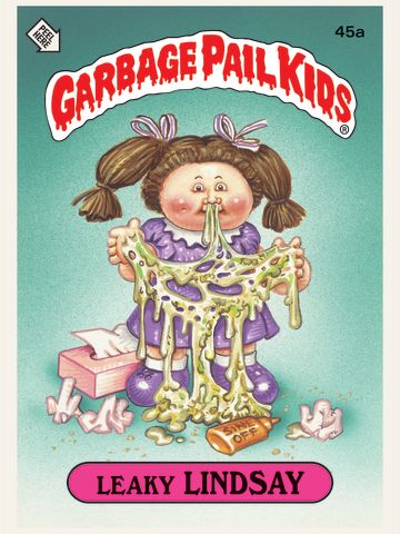"""Topps' """"Garbage Pail Kids"""" sticker trading cards sought to parody the """"saccharine cuddliness"""" of the Cabbage Patch dolls with something grotesque yet endearing, says cartoonist Art Spiegelman, who worked on the series. Click through the gallery for highlights of images from the new compilation, """"Garbage Pail Kids."""""""