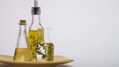"""Olive oil and other healthy fats can keep you from feeling hungry.  The Mediterranean diet, which is rich in olive oil, <a href=""""http://www.ncbi.nlm.nih.gov/pubmed/21443484"""" target=""""_blank"""" target=""""_blank"""">has shown several positive health results</a>, including keeping weight down, according to Zinczenko."""