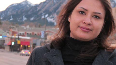 A year after Eman al-Obeidi stormed into Tripoli's Rixos Hotel, screaming of gang rape by Gadhafi's thugs, she is in Colorado.