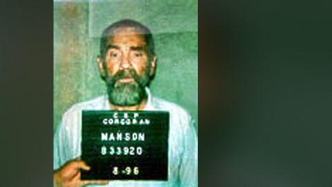 Manson in a 1996 prison photo.