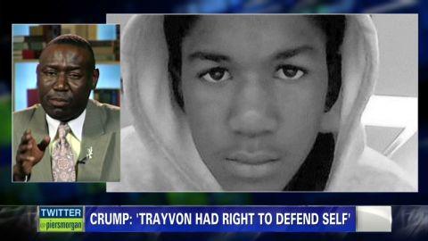 piers morgan benjamin crump trayvon martin defended himself_00002501