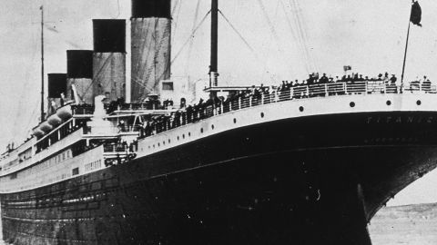 The White Star ocean liner Titanic on her first and last voyage in 1912.