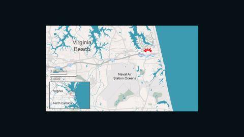 Navy jet crash in Virginia