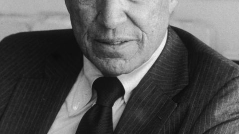 """Mike Wallace, who spent four decades as a hard-hitting, provocative news correspondent on """"60 Minutes,"""" has died, CBS reported Sunday. He was 93. Wallace is shown in his New York City office in this 1984 portrait."""