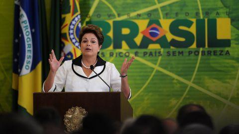 Brazilian President Dilma Rousseff, shown in Brasilia last week, met with President Obama in Washington on Monday.