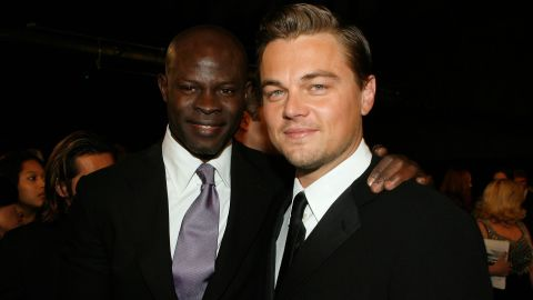 """Appearing alongside Leonardo DiCaprio in """"Blood Diamond,"""" Hounsou won rave reviews for his portrayal of a fisherman forced to work in a diamond mine after being captured by rebels."""
