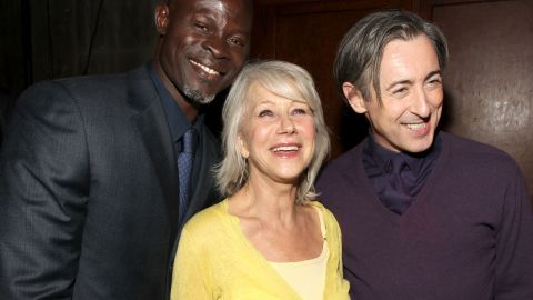"""Djimon Hounsou, Helen Mirren and Alan Cumming attend a party for the premiere of the 2010 film """"The Tempest"""" on December 6, 2010 in Los Angeles."""