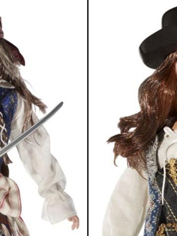 """Captain Jack Sparrow has been around since """"The Curse of the Black Pearl,"""" but it wasn't until the 2011 release of """"Pirates of the Caribbean: On Stranger Tides"""" that Johnny Depp's character became Barbie-fied. Fellow pirate Angelica (Penélope Cruz) also found a place at Mattel."""