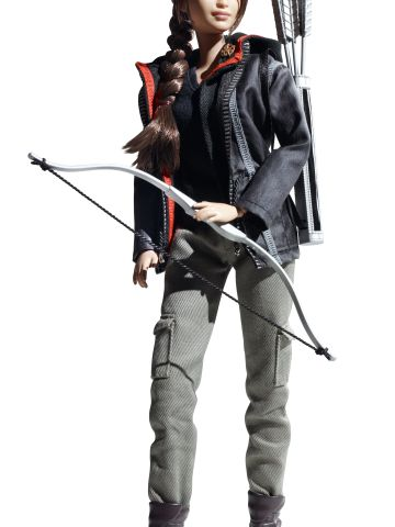 """""""The Hunger Games'"""" Katniss Everdeen is the latest pop culture heroine to get the plastic treatment. <a href=""""http://www.barbiecollector.com/shop/doll/hunger-games-katniss-doll-w3320"""" target=""""_blank"""" target=""""_blank"""">The doll </a>-- sporting Everdeen's signature braid, mockingjay pin and bow and arrows -- was released on Monday, and will be available come August. Click through to see other Barbie dolls inspired by popular movies and TV series."""
