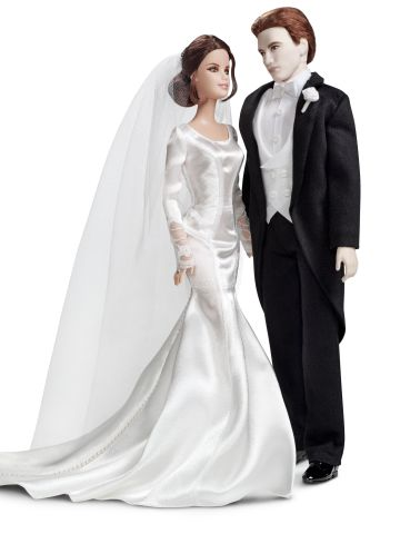 """""""Twilight"""" has inspired quite a few Barbie dolls since 2009, shortly after the first film's November 2008 debut. The most recent installment, """"Breaking Dawn -- Part 1,"""" called for a wedding-ready Edward and Bella, who dons a miniature version of the Carolina Herrara gown Kristen Stewart wore in the film."""