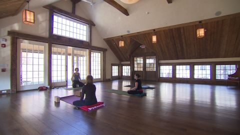 The facility has a yoga room which Gere hopes will enable people to gather and meditate together.