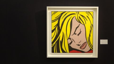 """Roy Lichtenstein's """"Sleeping Girl,"""" one of the Pop Art star's """"comic book"""" style works is also on show in London. It is expected to sell for between $30 and $40 million in Sotheby's Contemporary Art sale on May 9."""