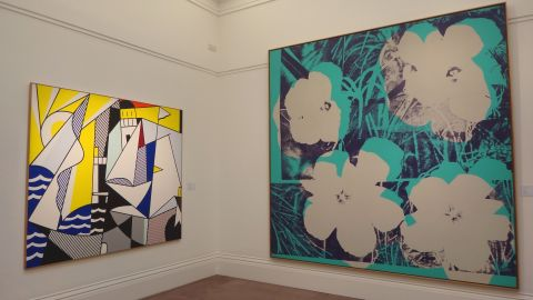 """Andy Warhol's """"Ten-foot Flowers"""" and """"Sailboats III"""", another work by Lichtenstein, will also be up for auction at the same sale in New York on May 9."""