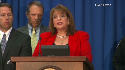 Special prosecutor Angela Corey announcing the charge filed against George Zimmerman on Wednesday.