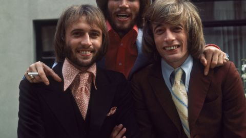 Maurice, Barry and Robin Gibb of the Bee Gees in 1973.