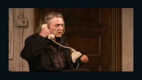 """Christopher Walken played Carmichael, a man searching for his missing left hand, in Broadway's """"Behanding In Spokane"""" in 2010."""