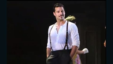 """Ricky Martin plays Che in the 2012 Broadway revival of """"Evita."""""""
