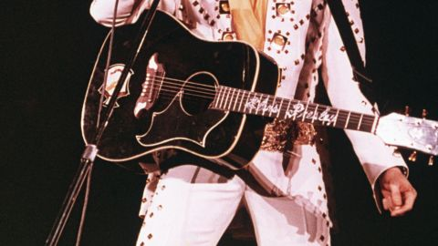 We wonder if Elvis' hologram could keep up with the King of Rock 'n' Roll's swiveling hips. Elvis died at 42 in 1977.