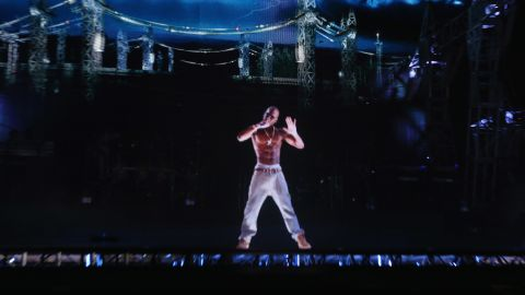 """Tupac Shakur still has it. The rapper, who died at age 25 in 1996, entertained audiences via hologram at Coachella on Sunday. Pac's eerily realistic performance has some fans tweeting that, even in death, the """"Hail Mary"""" rapper is a better entertainer than present day artists. Here are some other hologram performances we'd like to see:"""