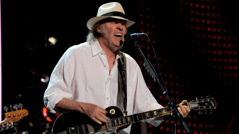 Neil Young, shown here performing in February in Los Angeles.