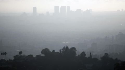 A view of downtown Los Angeles is seen on a smoggy afternoon in 2006.