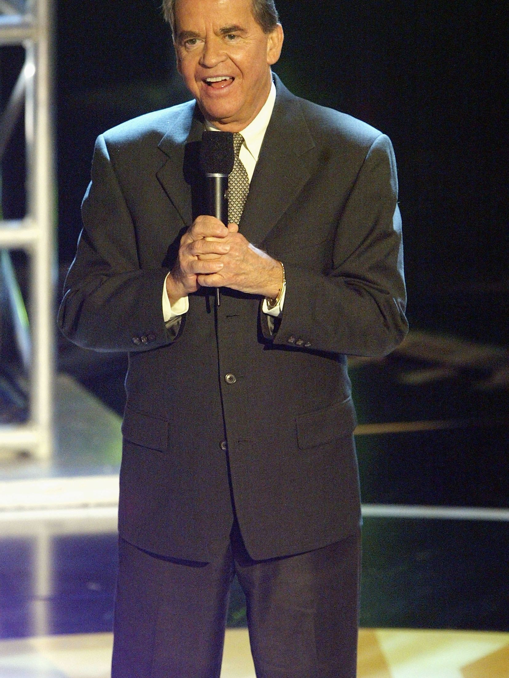 """Clark speaks at the """"Motown 45"""" Anniversary Celebration in Los Angeles in 2004."""