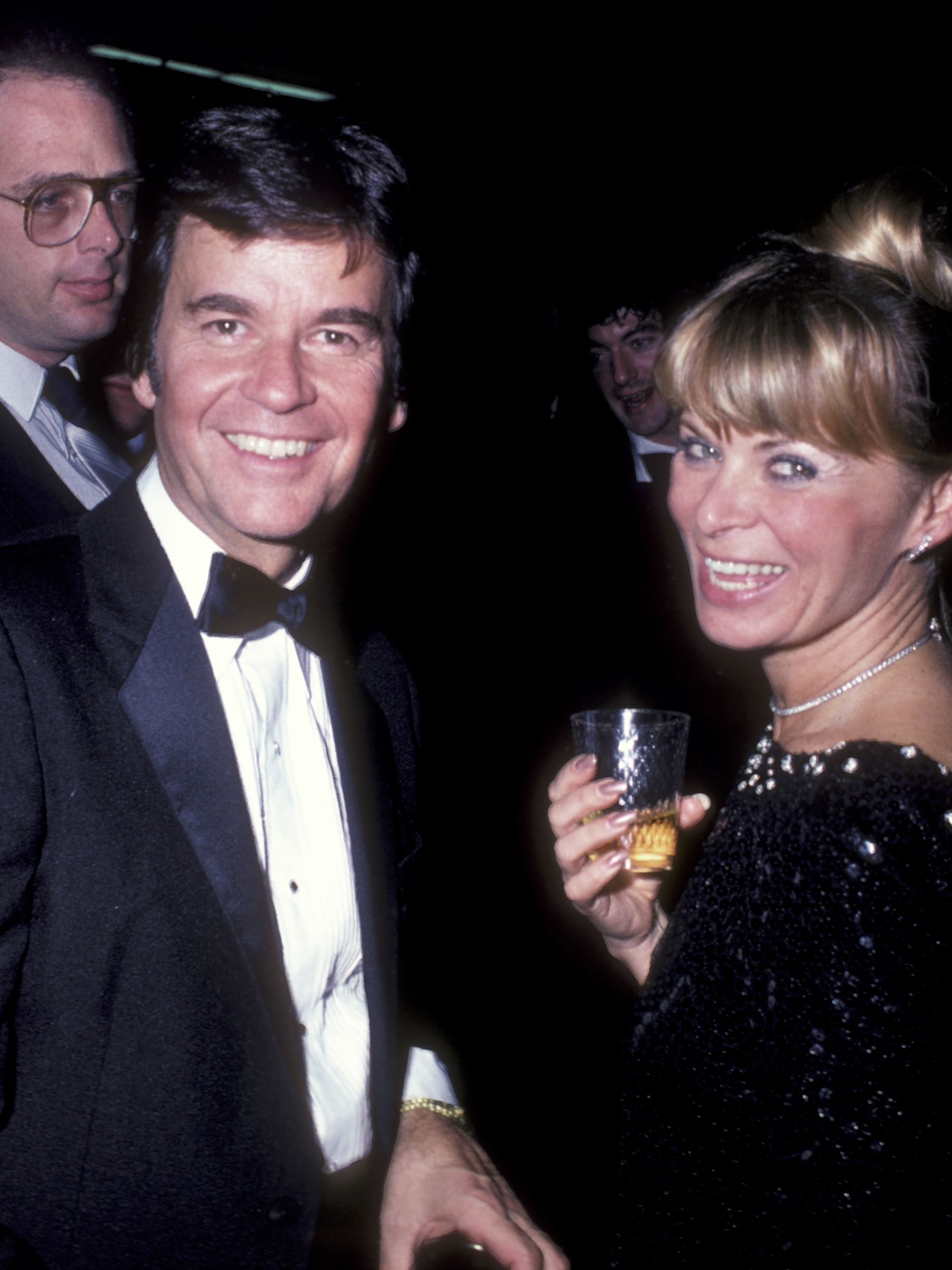 Clark and wife Karen attend  the 16th Annual Academy of Country Music Awards on April 30, 1981, at the Shrine Auditorium in Los Angeles.