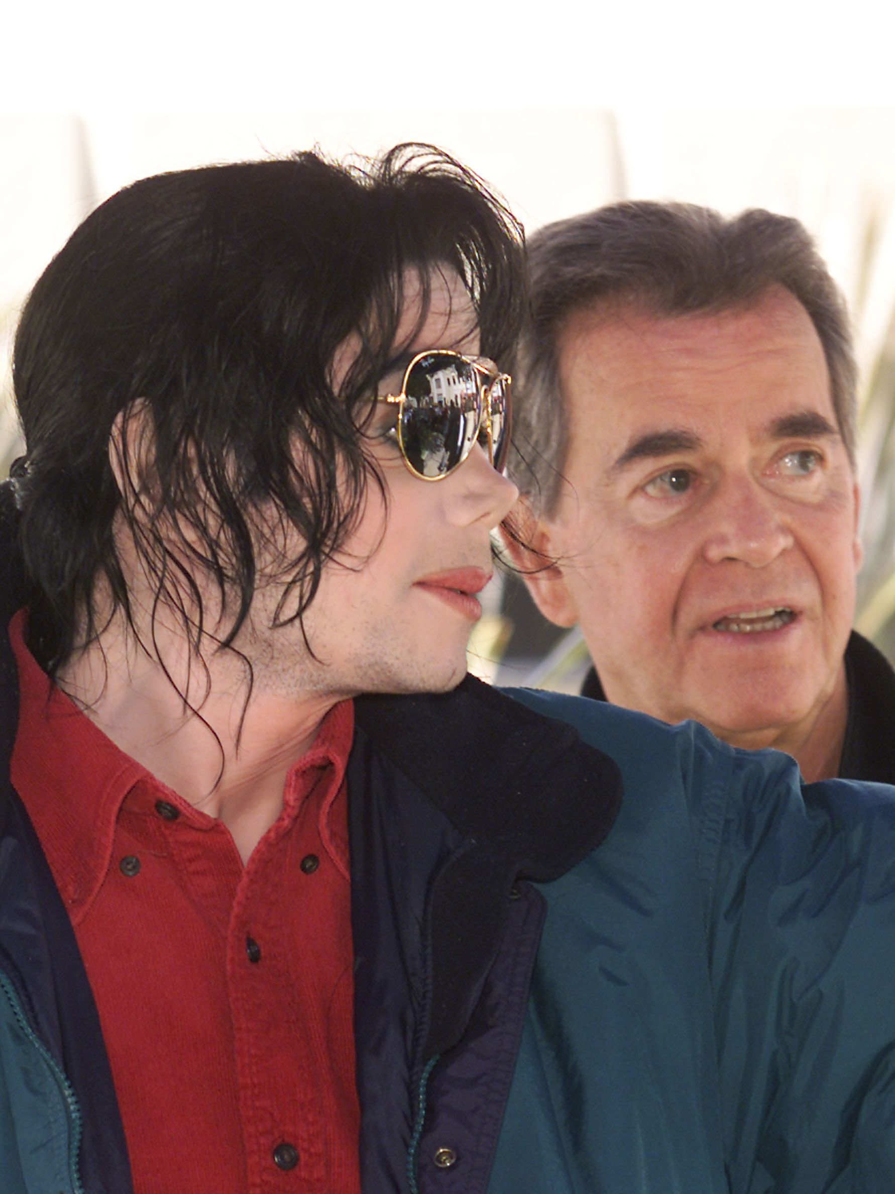 """Michael Jackson and Clark during the taping of the 50th anniversary special of """"American Bandstand."""""""