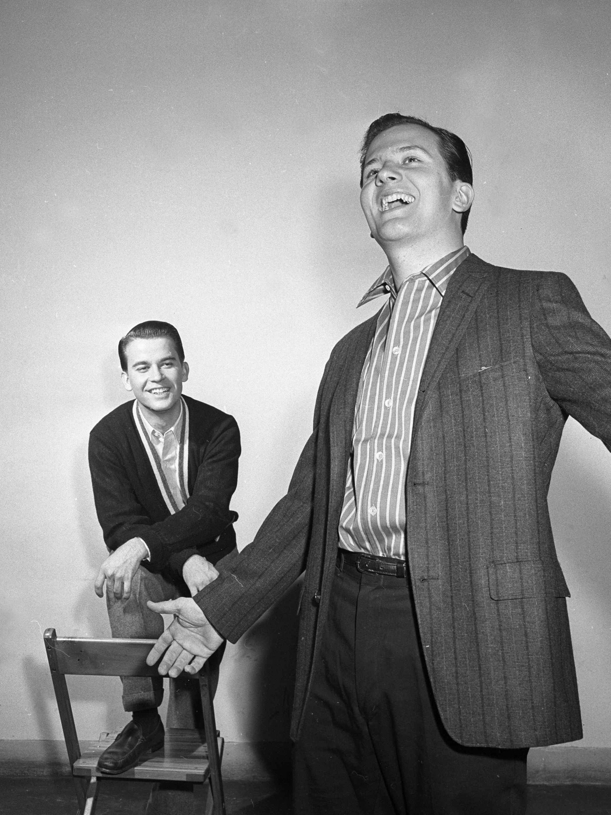 Clark and Pat Boone circa 1958