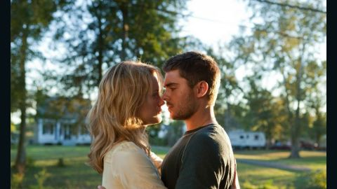 """Taylor Schilling and Zac Efron star in """"The Lucky One."""""""
