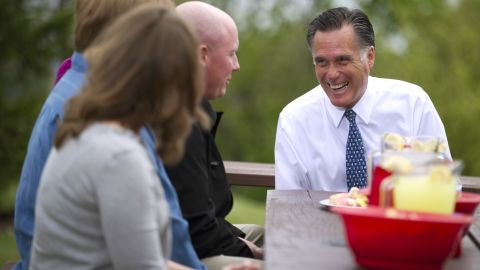 Mitt Romney is employing a strategy to reach voters first at stops around the country ahead of the president's appearances.