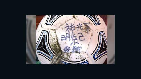 Misaki Murakami, 16, says his soccer ball was part of tsunami debris that washed ashore in Alaska recently.