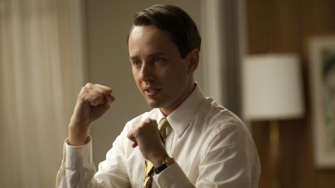 """Vincent Kartheiser plays Pete Campbell in a scene from the April 15 """"Mad Men"""" episode."""
