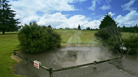 As well as a regular 18-hole layout, New Zealand's Arikikapakapa Rotorua Golf Club also has a nine-hole thermal course where hot springs bubble, geysers spring and the smell of sulphur fills the air. The course sits alongside the Whakarewarewa Thermal Reserve.