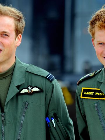 Prince Harry's older brother William is also in the armed services. He serves as a search and rescue pilot with the Royal Air Force, based in North Wales.