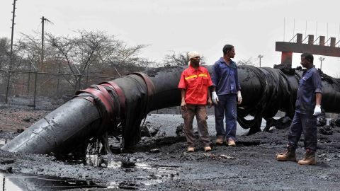 A burnt processing facility in Sudan's main petroleum centre of Heglig bordering with South Sudan,  April 24, 2012.