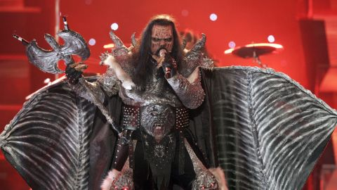 """Monster masks, flaming axes, rotting flesh -- Finland's 2006 entry had it all. The metal band Lordi smashed all previous voting records to become the first rock band to win Eurovision with the song """"Hard Rock Hallelujah."""""""