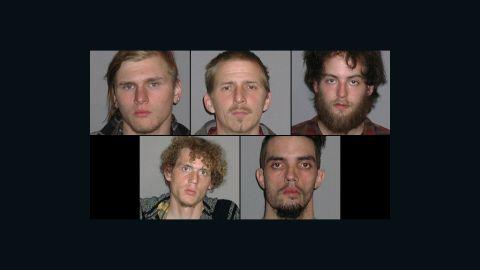 Suspects in Cleveland bomb plot: Brandon Baxter, Anthony Hayne, Connor Stevens, Joshua Stafford and Douglas Wright.