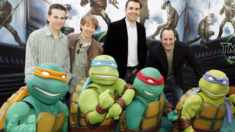"""Mikey Kelley, James Arnold Taylor, Nolan North and Mitchell Whitfield voiced the Teenage Mutant Ninja Turtles in 2007's """"TMNT."""""""