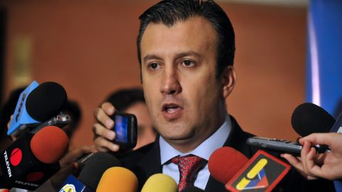 (file photo) Venezuelan minister Tareck El Aissami, pictured, said Interpol has issued a Red Notice for Eladio Aponte Aponte.