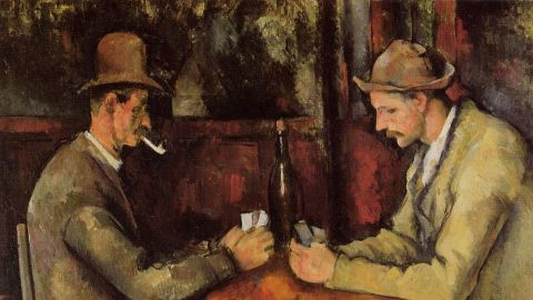 """In a private sale in 2011, Qatar's royal family paid more than $250 million for """"The Card Players,"""" a post-impressionist painting by French artist Paul Cezanne."""