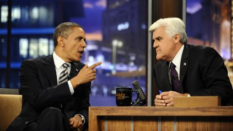 """Obama appears on """"The Tonight Show With Jay Leno"""" on October 25, 2011. During a wide-ranging interview, the president criticized Washington's harsh political climate."""