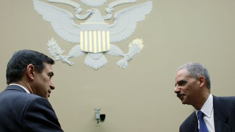 Attorney General Eric Holder testified before Congress in February 2012.