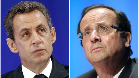 Nicolas Sarkozy and François Hollande.