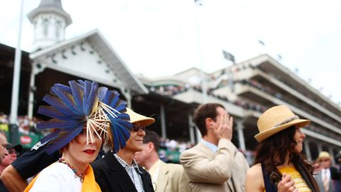 From roses to feathers, the race is just as well known for its fashion as its horses. Once a year, the international racing set descends on Louisville, clogging the skies over the city with private jets.