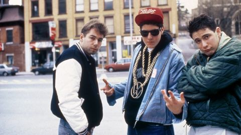 """Yauch, left, hangs with fellow Beastie Boys members Mike """"Mike D"""" Diamond and Adam """"Ad-Rock"""" Horovitz."""