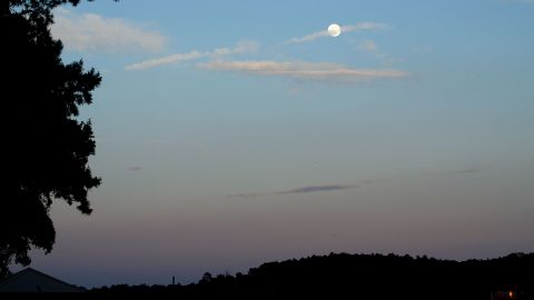 """Beth Wade of Lake Wylie, South Carolina, took """"test"""" photos of the moon in 2012."""